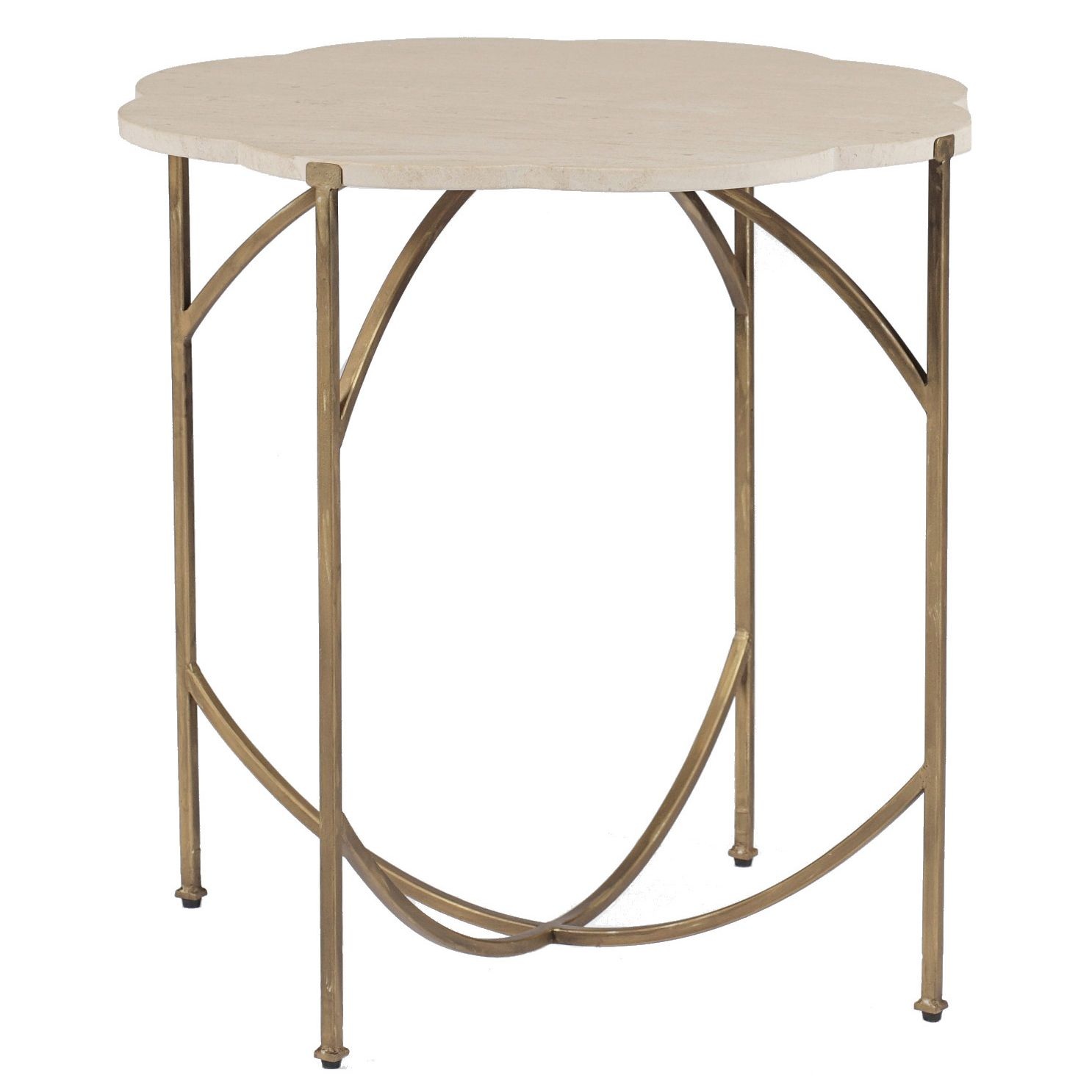 "Gabby Furniture Gillian Flower Side Table Layla Grayce 24""W x 24"
