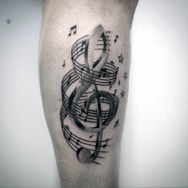 Photo of 80 Treble Clef Tattoo Designs For Men – Musical Ink Ideas – Man Style   Tattoo