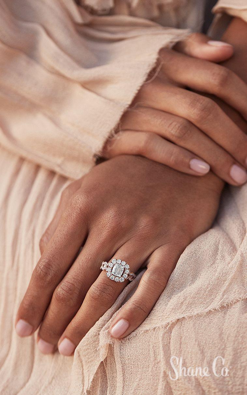 Cushion Halo Swirl Diamond Engagement Ring Beautiful Engagement Rings Halo Diamond Engagement Rings Cushion Vintage Diamond Wedding Bands