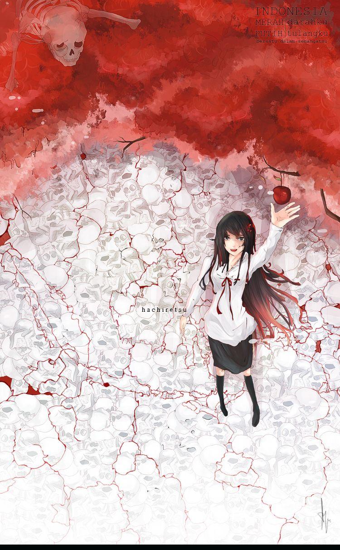 100 Gambar Bendera Merah Putih Graffiti