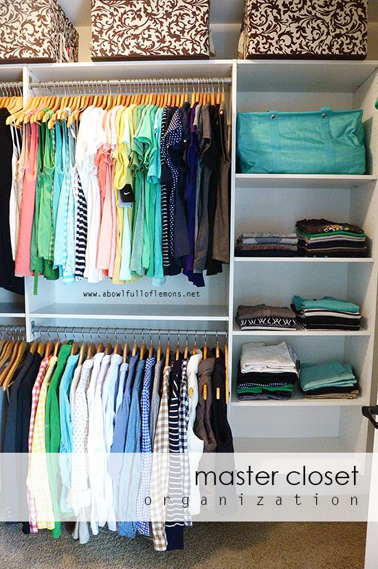Week 12 master closet organization great tips for organizing clothes shoes accessories and