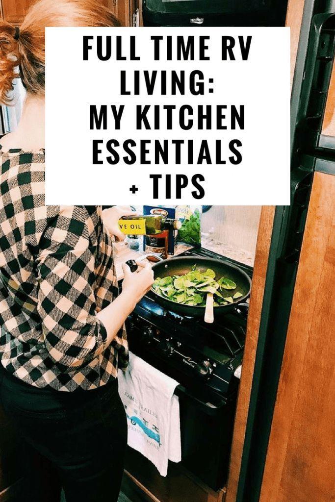 Vollzeit Wohnmobil: Meine 7 RV Kitchen Essentials + Tipps #rvliving
