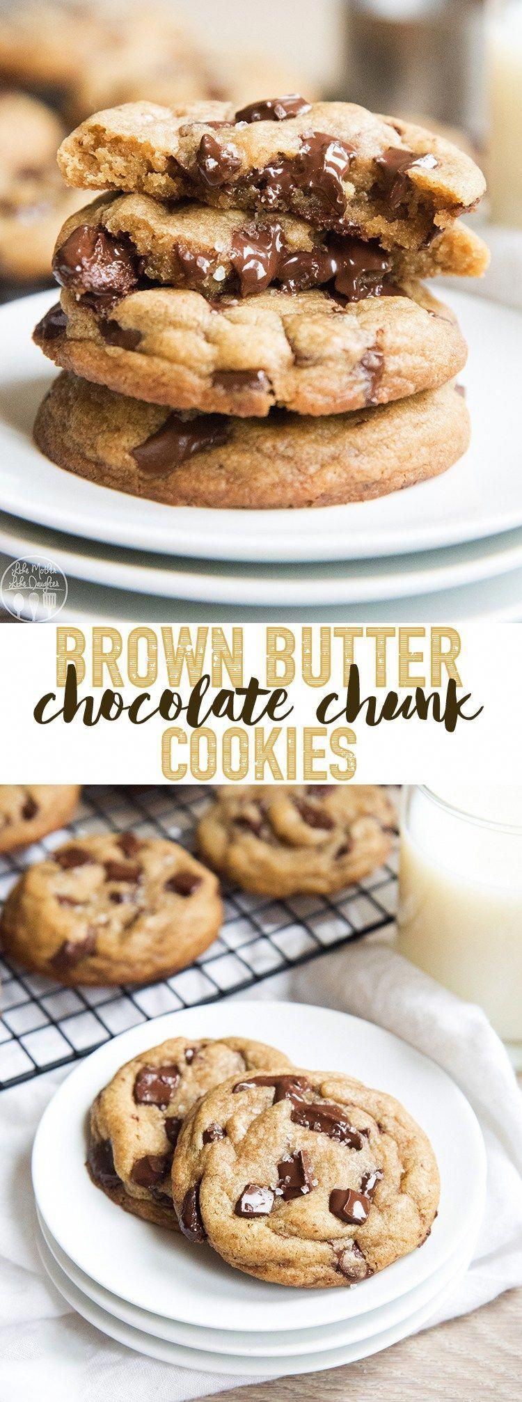 These brown butter chocolate chunk cookies are the perfect rich buttery cookies packed full of melty chocolate in each bite