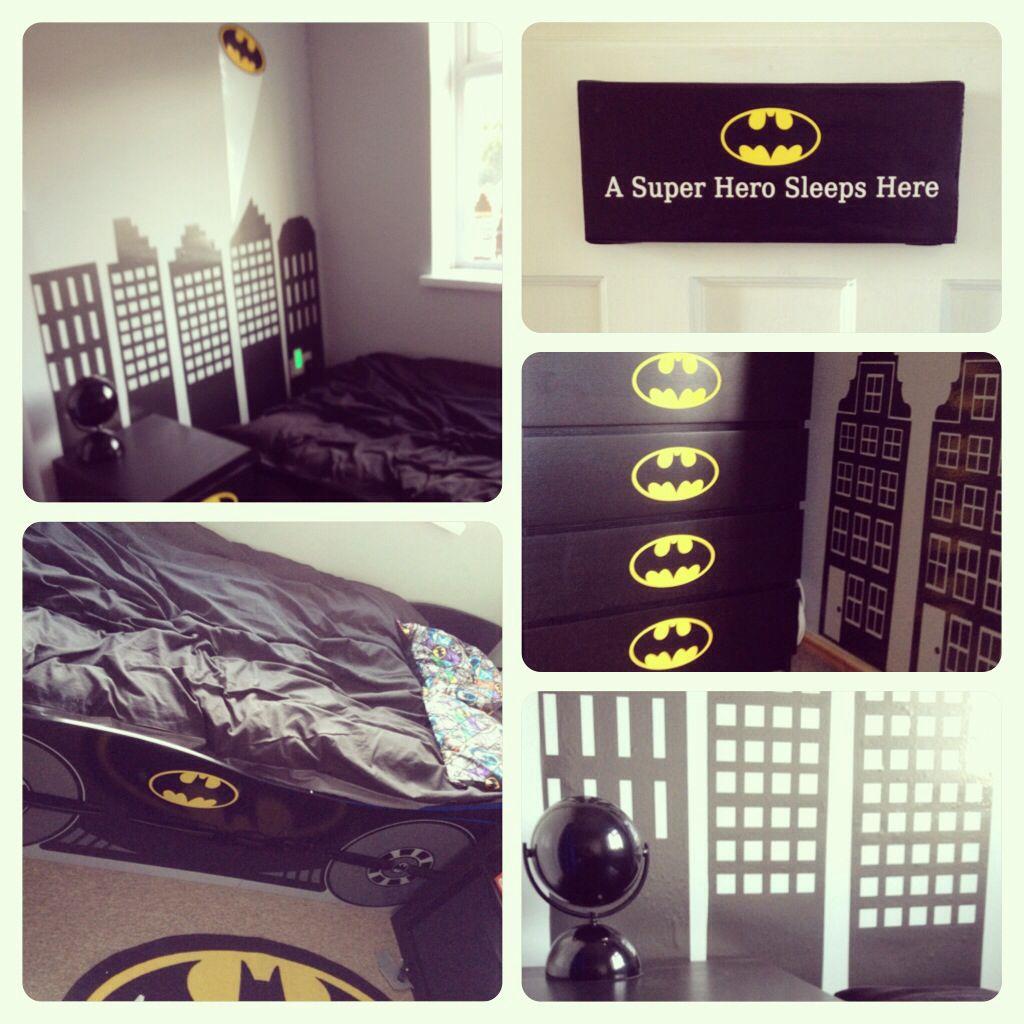 Batman themed bedroom for my son Bat Cave Pinterest