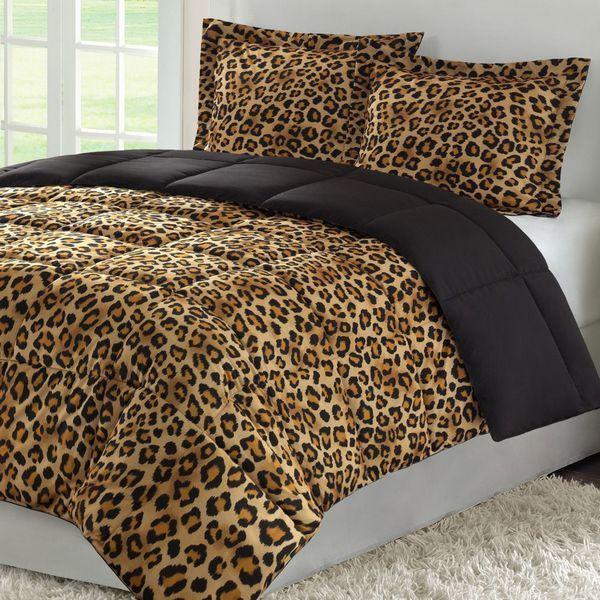 Unique Color Pattern Leopard Print Bedding Cheetah Print Bedroom