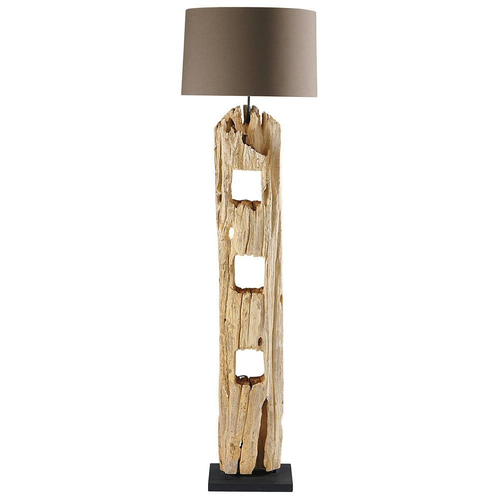Stehlampe Aus Holz H 170 Cm Lampadaire Bois Lampadaire Maison