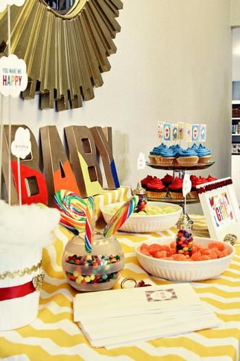Hostess with the Mostess® - Retro Rainbow Baby Shower