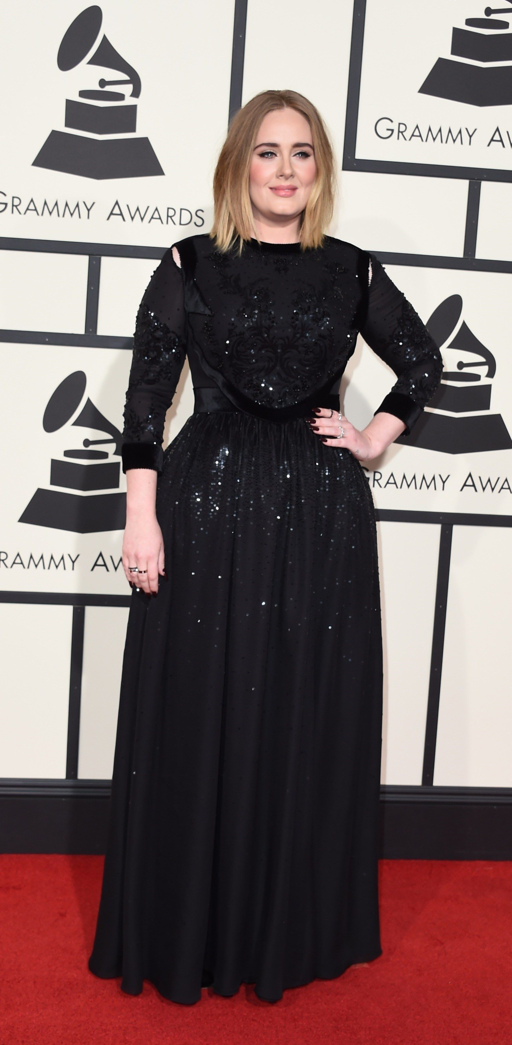 978fe1c0901 Adele Owned the Red Carpet at the Grammys