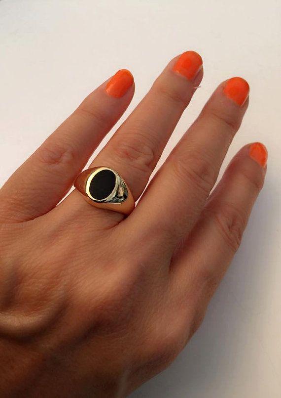 Tiffany Black Onyx Signet Ring