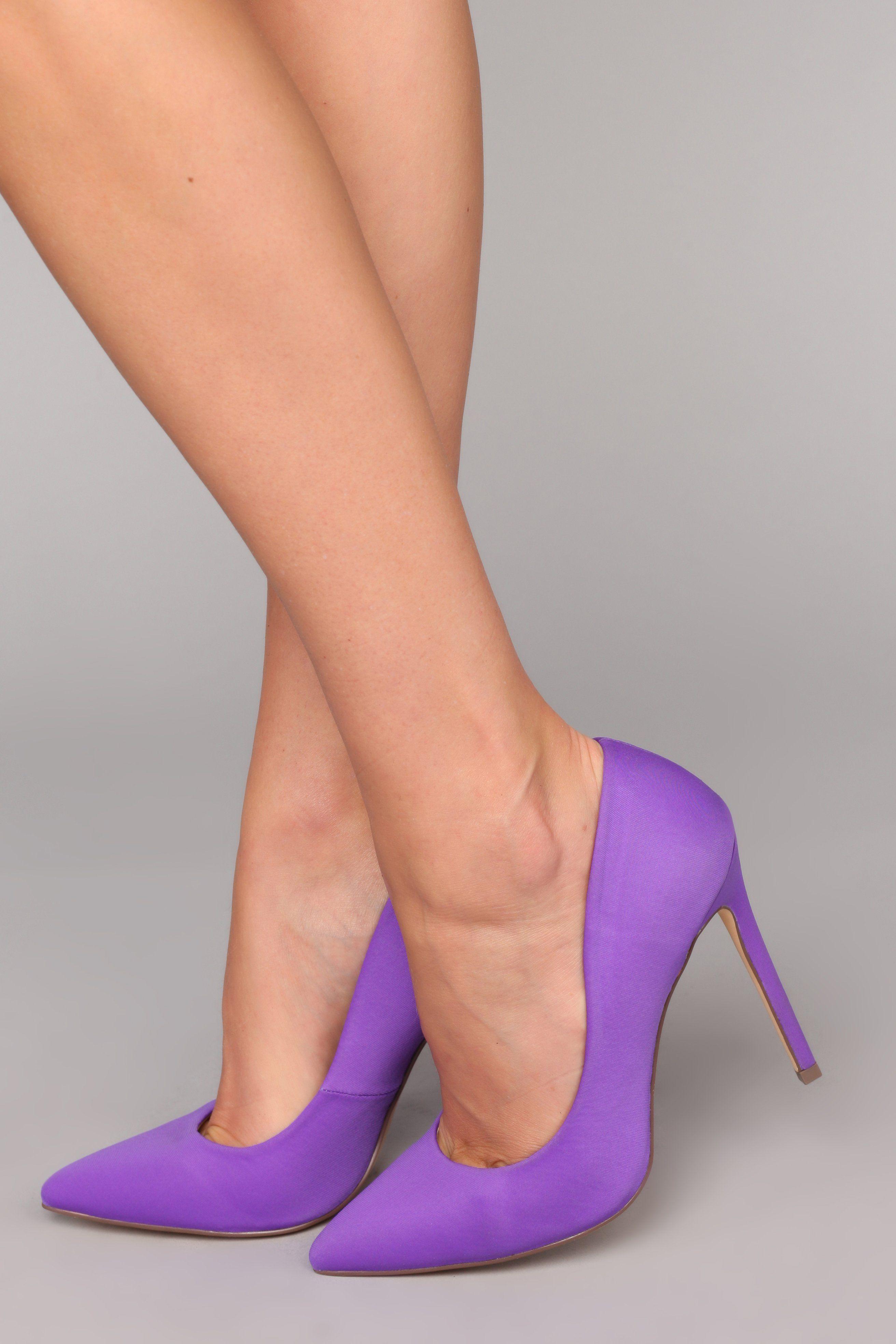 4 Inch Purple Heels