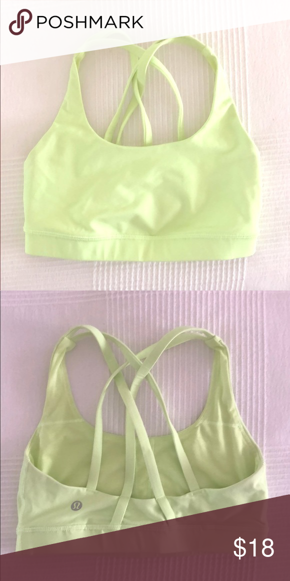 069a3e6cba Lululemon sports bra in pale neon yellow sz S Lulu sports bra in acid yellow  / green. Excellent as new condition! Ideal for size XS-S or US women's 2-4.  ...