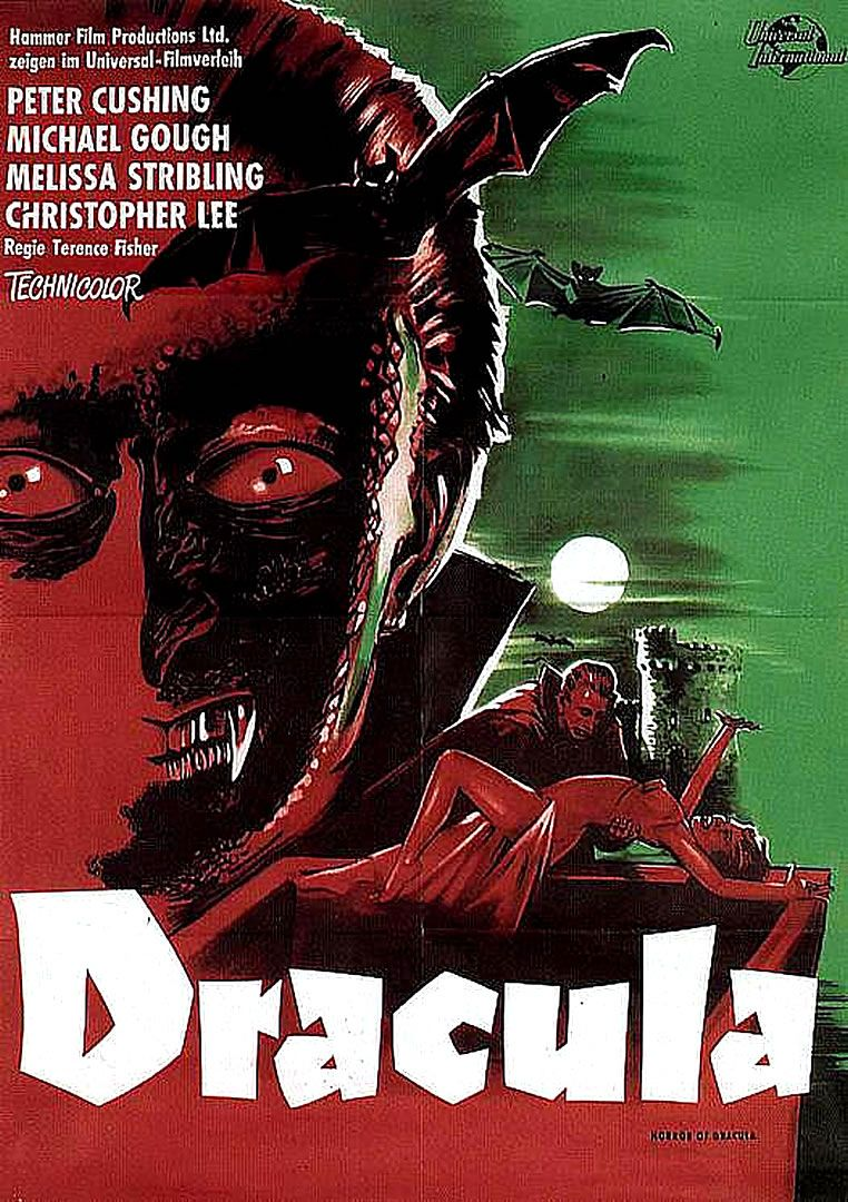 Dracula 1958 Vampire B Movie Posters Wallpaper Image Dracula Horror Movie Posters Hammer Horror Films