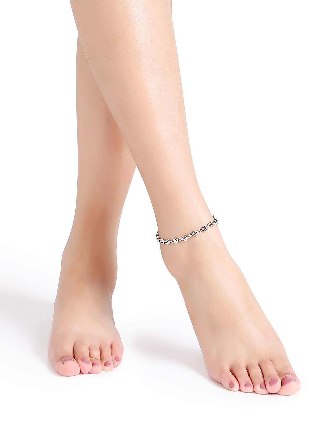 anklet adorewe com alloy shaped color shopping solid pin letter tidebuy