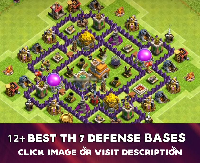8 Best Th7 Defense Base 2020 New Base Trophy Base Defense