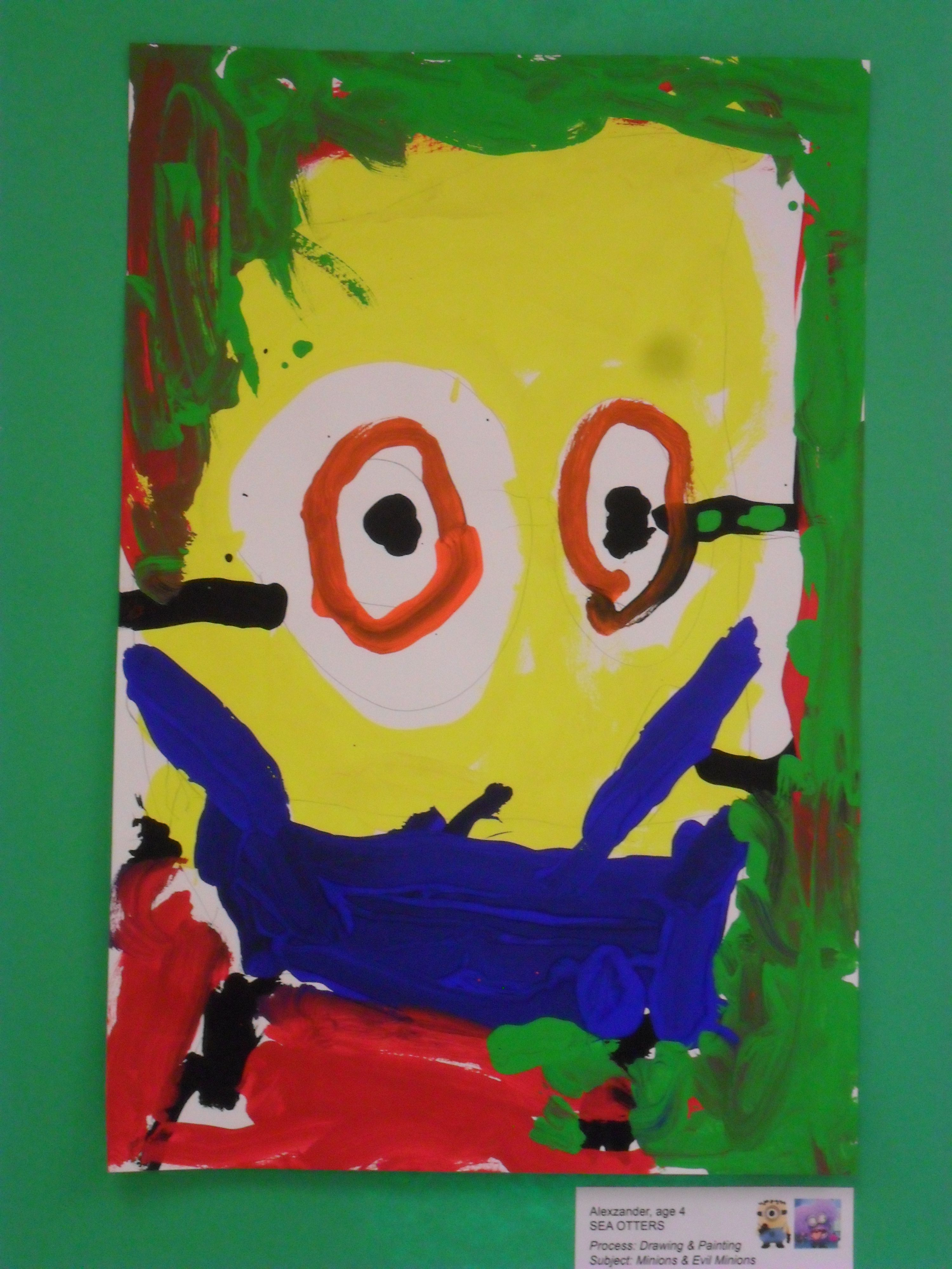 Minion Painting By 4 Year Old Student