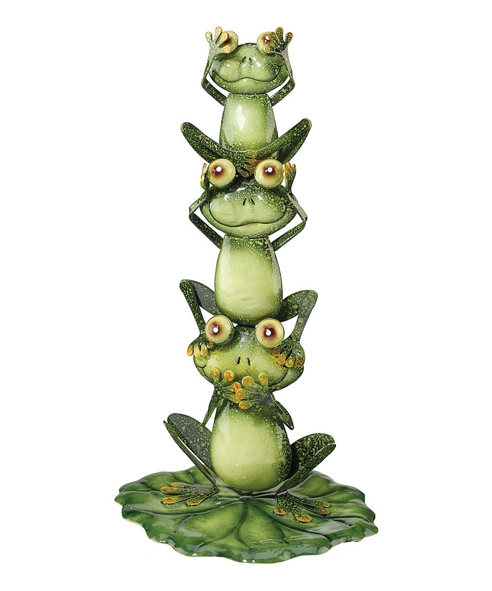 This See No Evil, Hear No Evil, Speak No Evil Frog Garden Statue by ...
