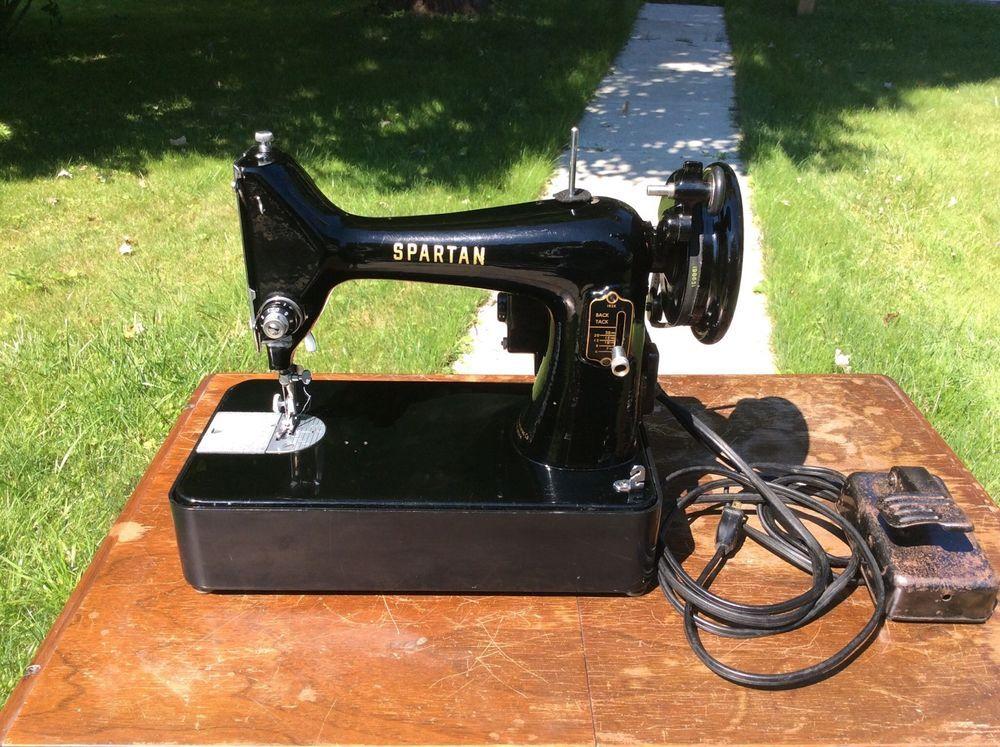 Vintage 40 Singer Spartan Sewing Machine Model 40K Serial Stunning 1960 Singer Spartan Sewing Machine Model 192k