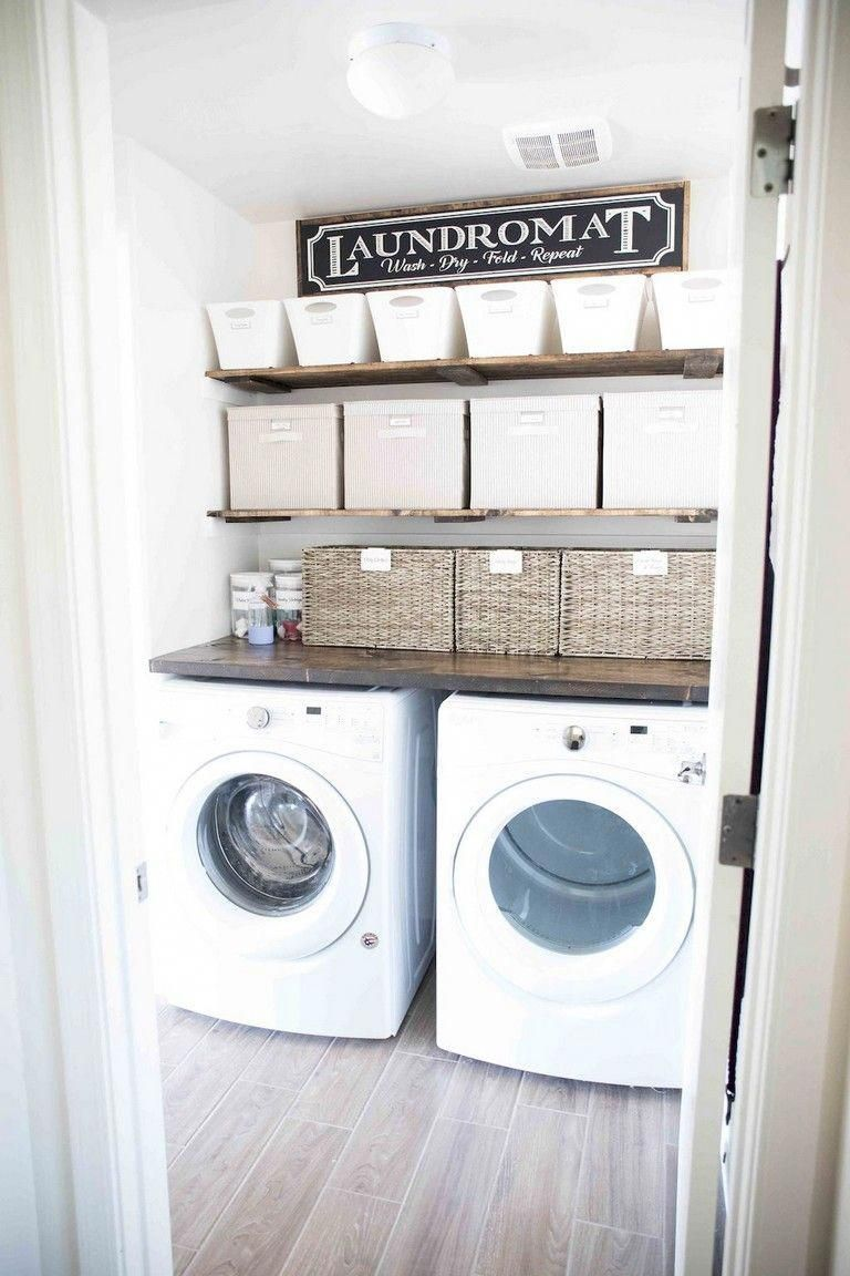 25 great modern farmhouse small laundry room ideas on extraordinary small laundry room design and decorating ideas modest laundry space id=27382