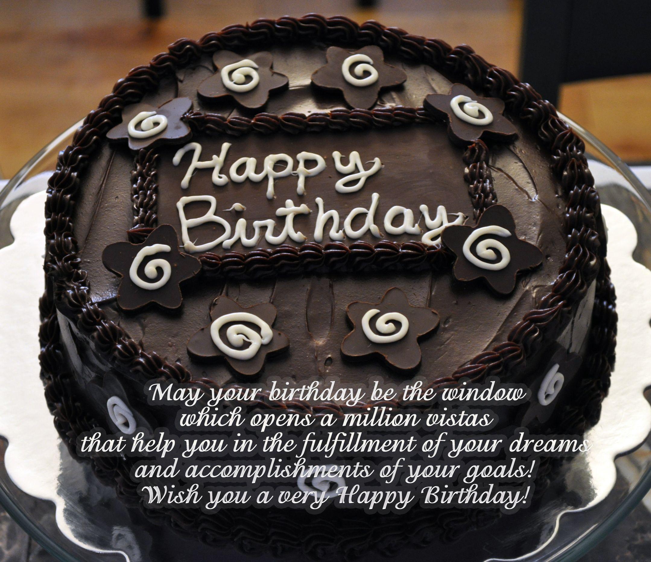 Birthday words in cake