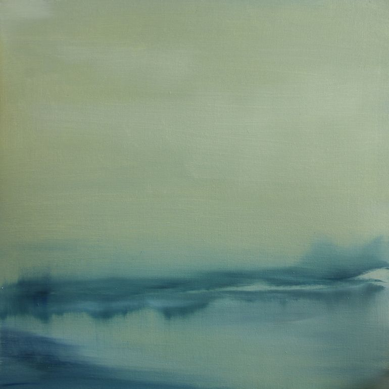 """Koen Lybaert; Oil 2014 Painting """"Burnmoor Tarn"""""""