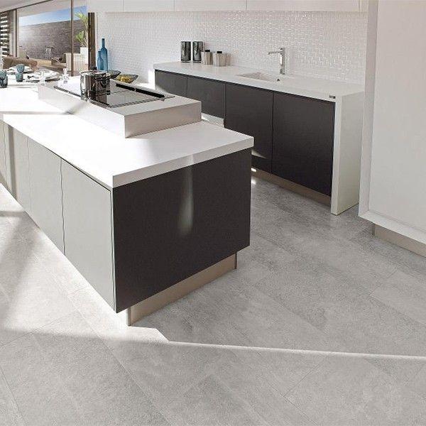 Porcelanosa Kitchen Floor Tiles: Porcelanosa Glasgow Silver Lapado 43.5 X 65.9cm