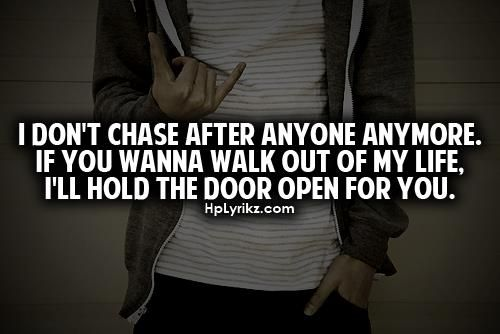 this is finally me. i'm finally done chasing :)