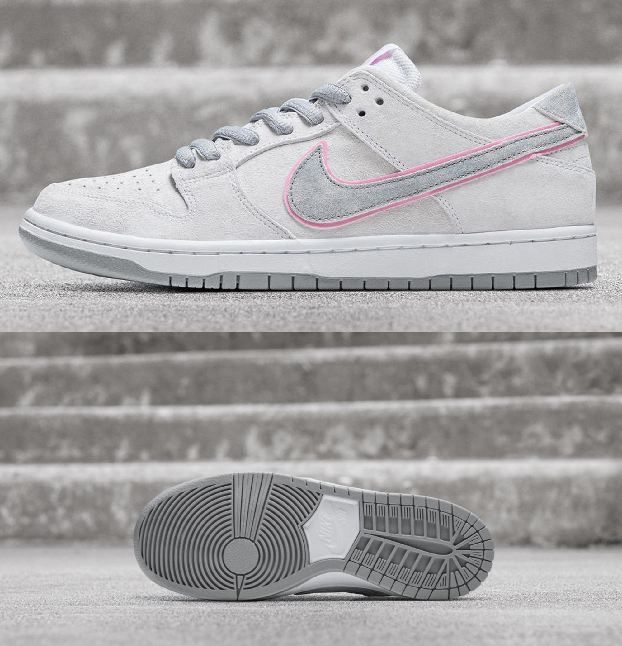 "wholesale dealer 8745d f89e3 Nike SB Dunk Low Pro ""Ishod Wair"" - White/Perfect Pink-Flat ..."