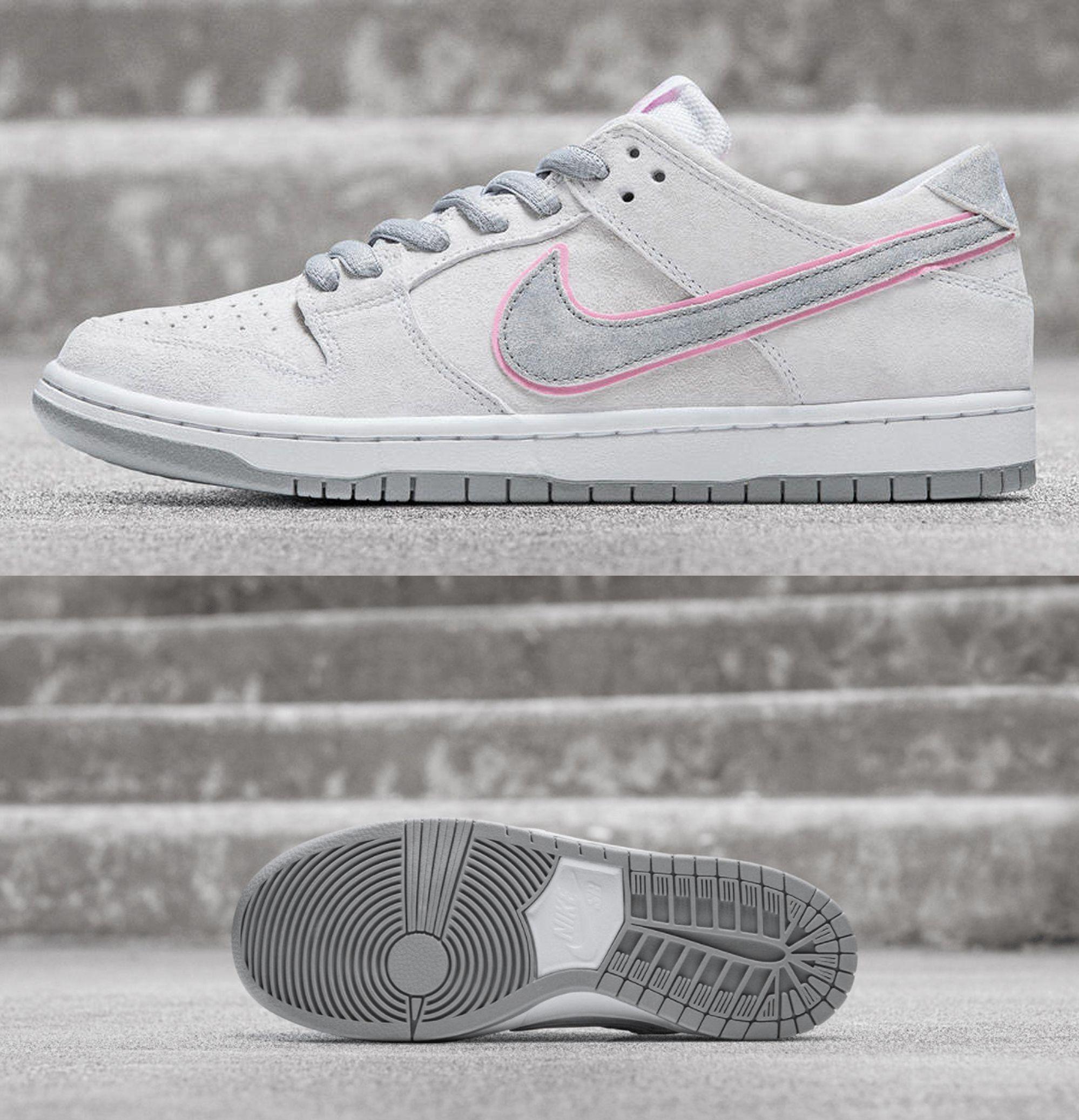 """online retailer 0acf0 3e9c1 Nike SB Dunk Low Pro """"Ishod Wair"""" - WhitePerfect Pink-Flat ..."""