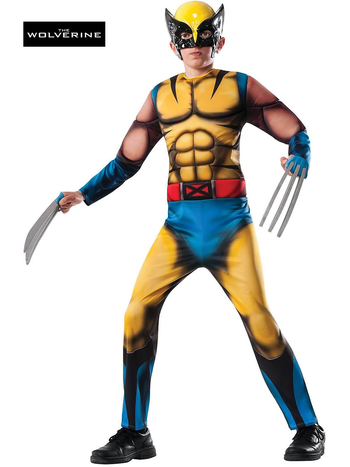 Boy S Deluxe Wolverine Costume Wolverine Costume Wolverine Costume Kids Diy Superhero Costume
