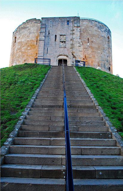 Clifford's Tower, York Castle, York, North Yorkshire, England, UK