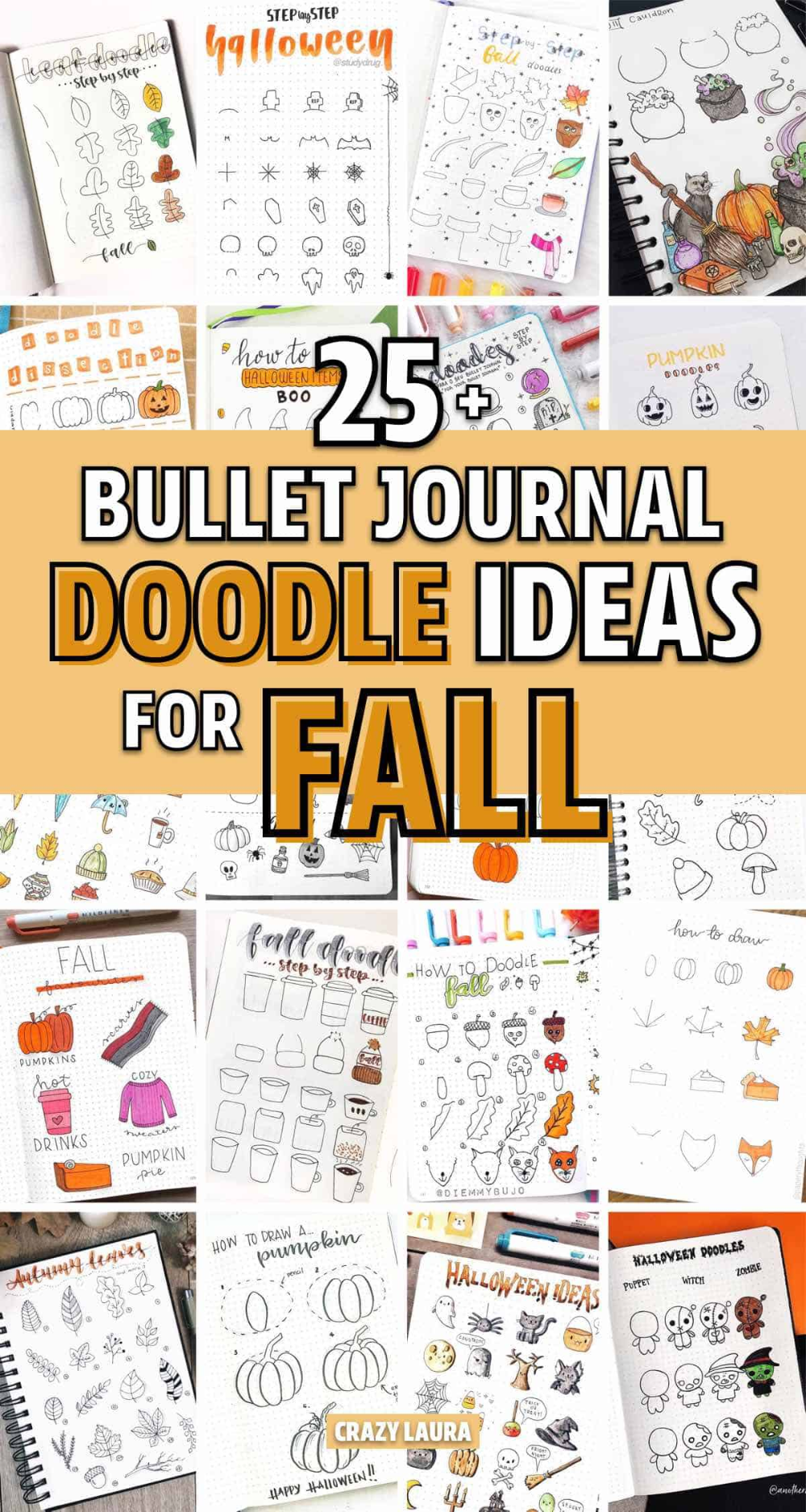 Best Bullet Journal Doodle Ideas For Halloween & Fall 2020
