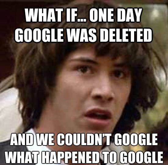 Google Was Deleted #Day, #Sad