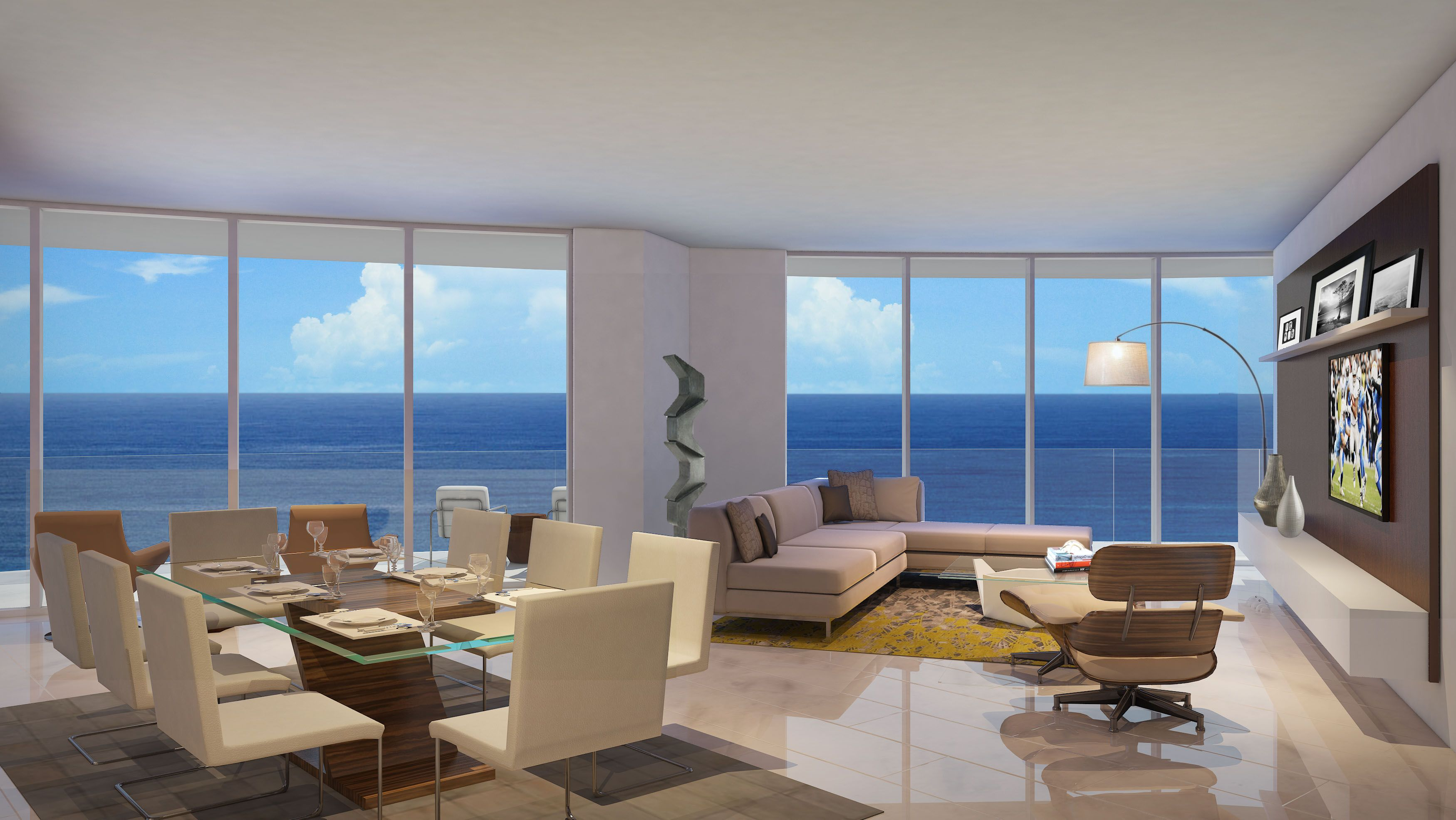 Paramount Residence A Living Room Concept Fortlauderdale Condos Beach Luxury Kitchen Contemporary Des Luxury Condo Lauderdale Beach Luxury Real Estate