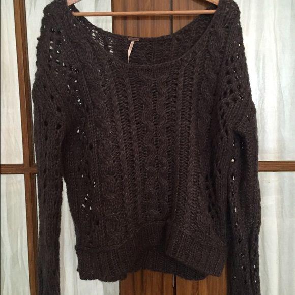 Grey wool sweater Very warm dark grey wool sweater Free People Sweaters Crew & Scoop Necks