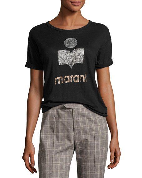 74b10b30303c4 ETOILE ISABEL MARANT Koldi Crew Neck Short-Sleeve Tee