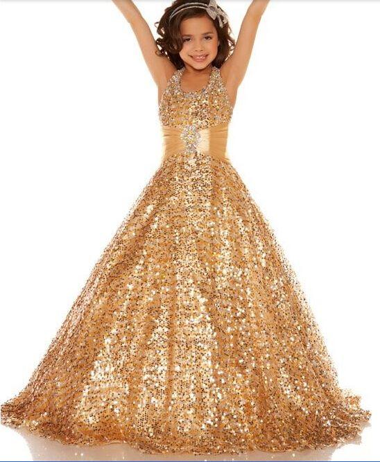 Vestido Dorado Vestidos Largos Para Niñas Vestidos Para