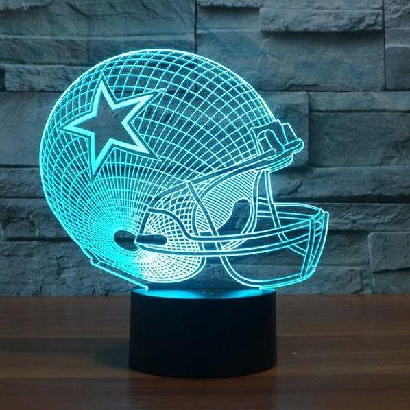 Nfl Dallas Cowboys 3d Led Light Lamp Dallas Cowboys