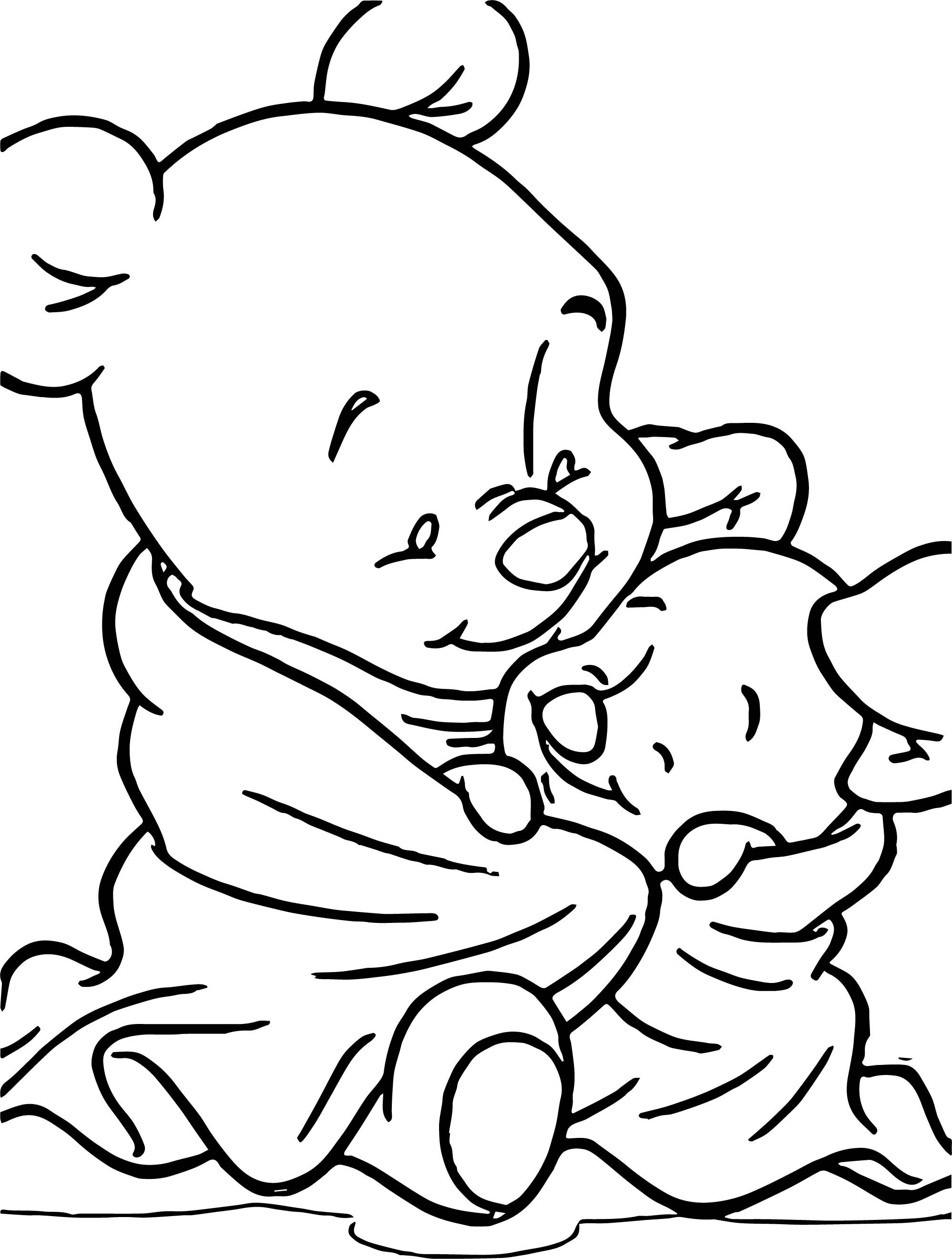Awesome Baby Pooh Piglet Blanket Coloring Page Coloring Pages