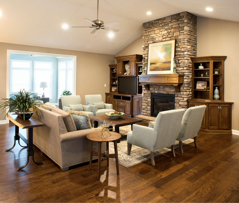 Open Living Room Floor Plan, Upholstered Conversation