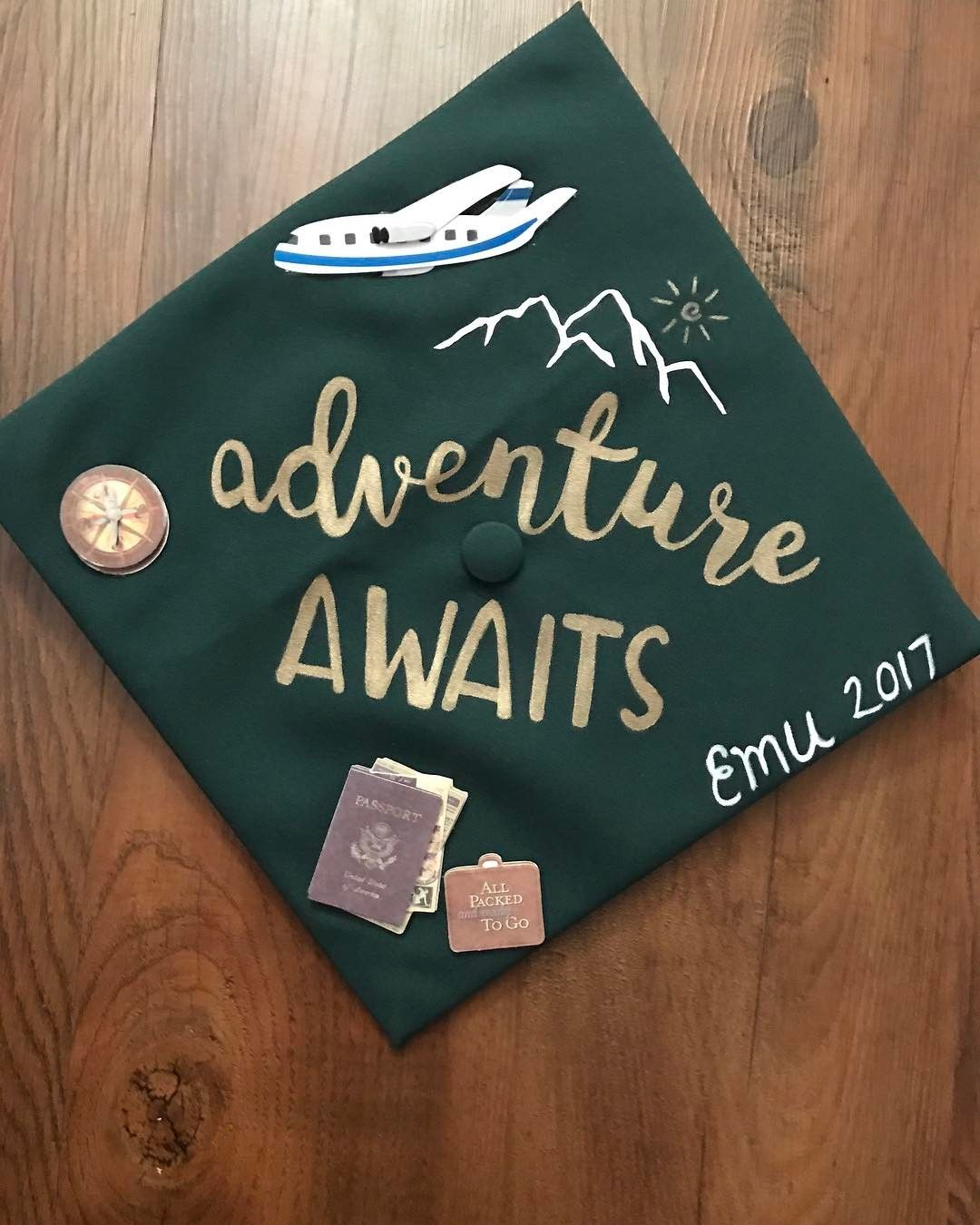 28 graduation cap ideas for students with serious wanderlust | diy