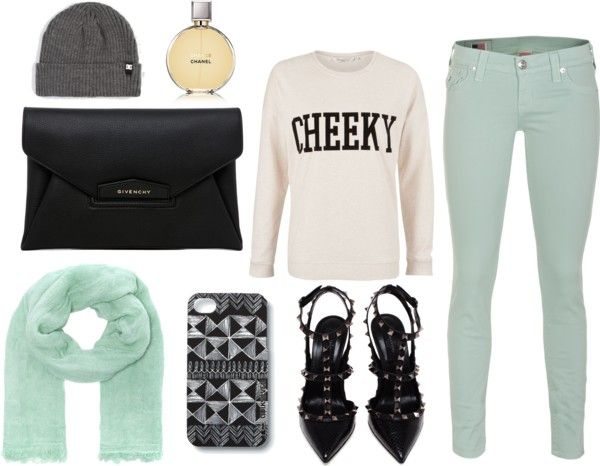 """""""Mint pants"""" by moni-beneyto ❤ liked on Polyvore"""