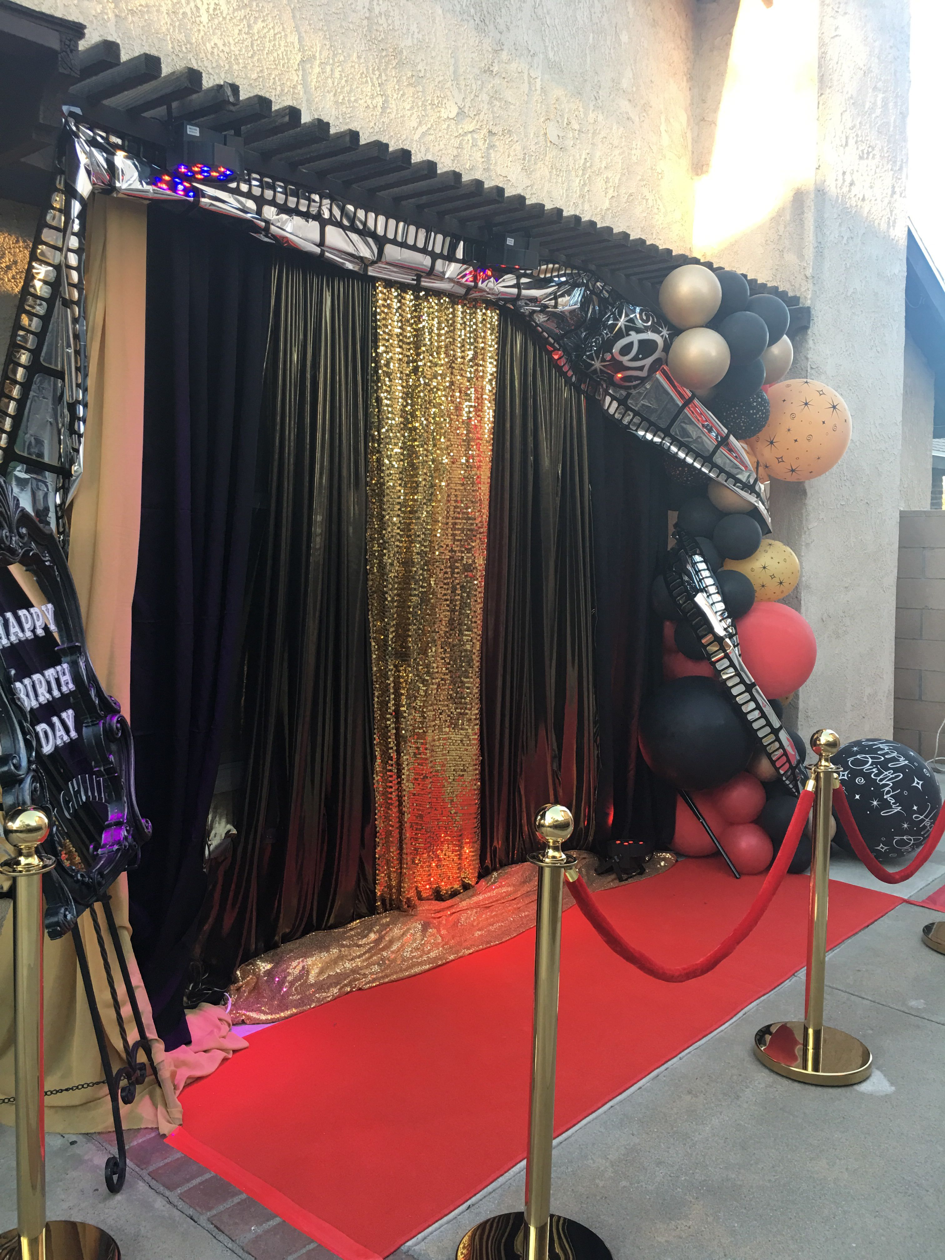 Colors Black Red And Gold Gold Birthday Party Decorations Black