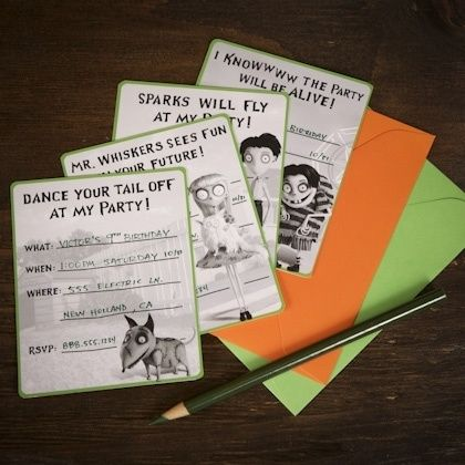 Frankenweenie Party Invitations Frankenweeni Pinterest Party