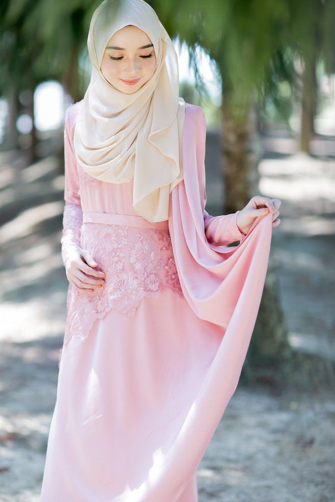 Maxi dress satin murah hati