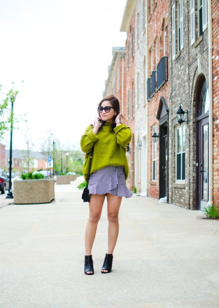 fd21c6d7b08 Lime green and gingham skirt