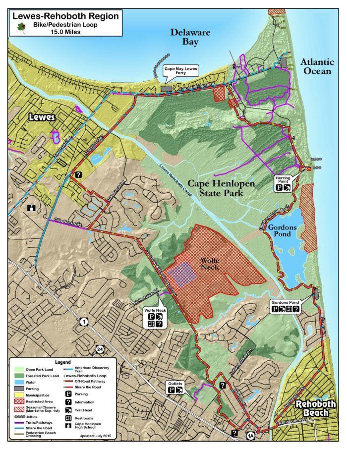 Map of Delaware DE   Delaware in 2019   Delaware map, Rehoboth beach Delaware Beaches Map on