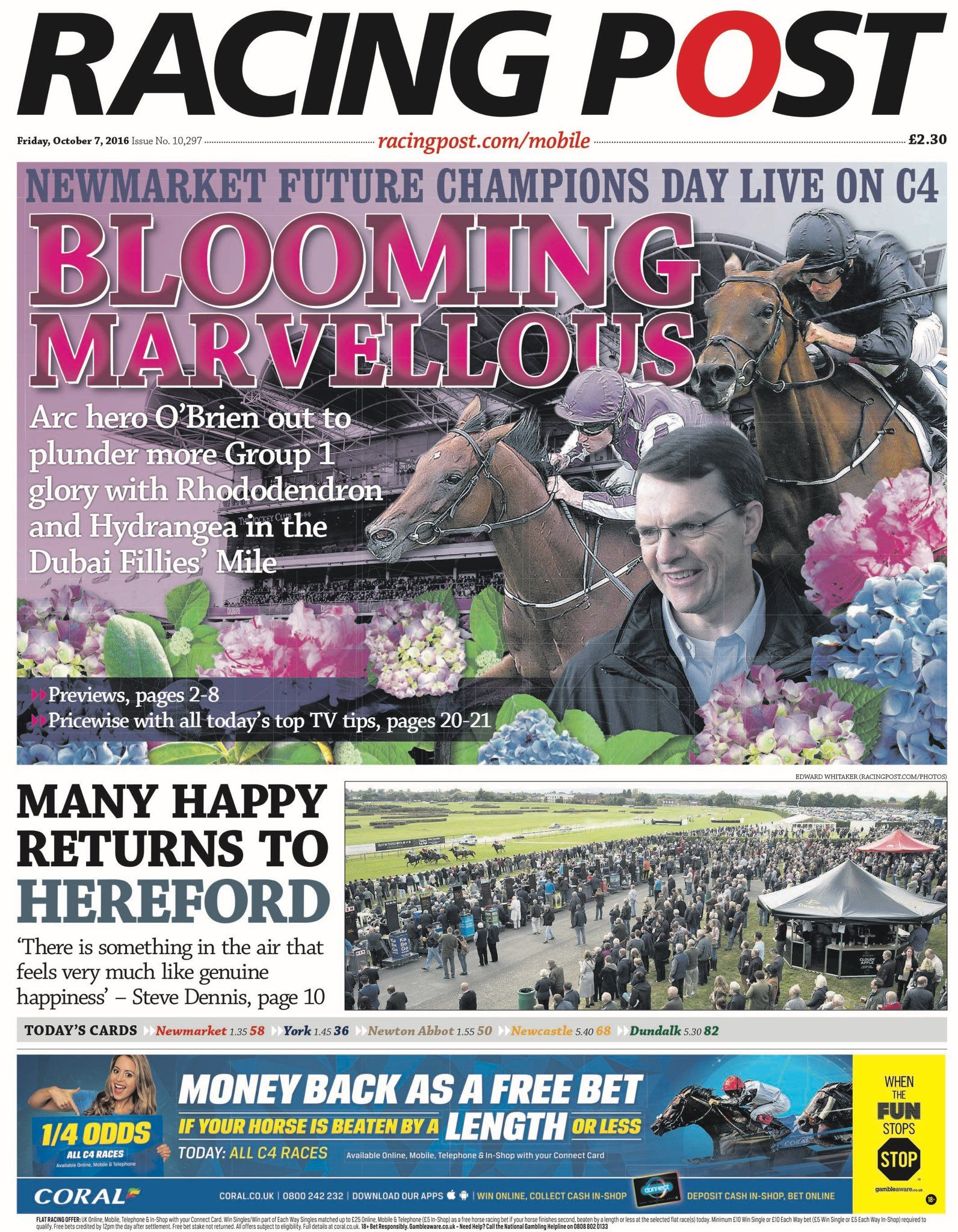 Friday's Racing Post Blooming Marvellous #tomorrowspaperstoday #bbcpapers https://t.co/bRvSJ1j9c5