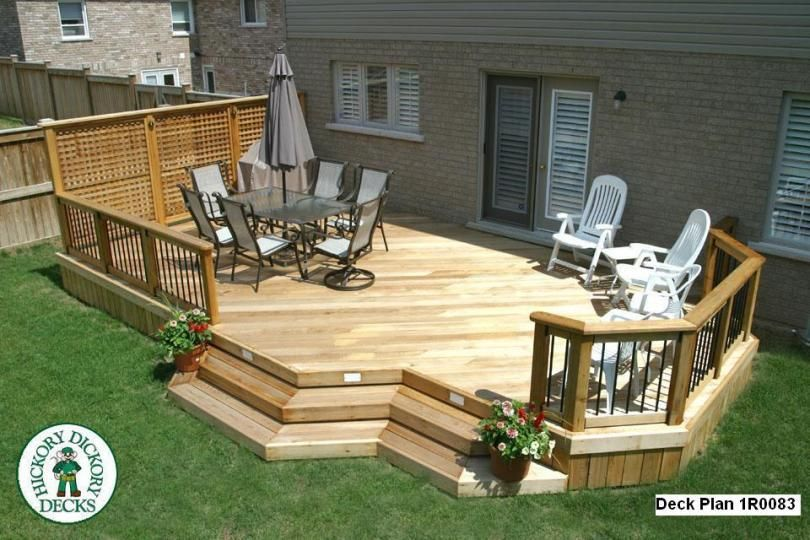 Deck plan option love the lattice wall outdoor living for Low deck designs