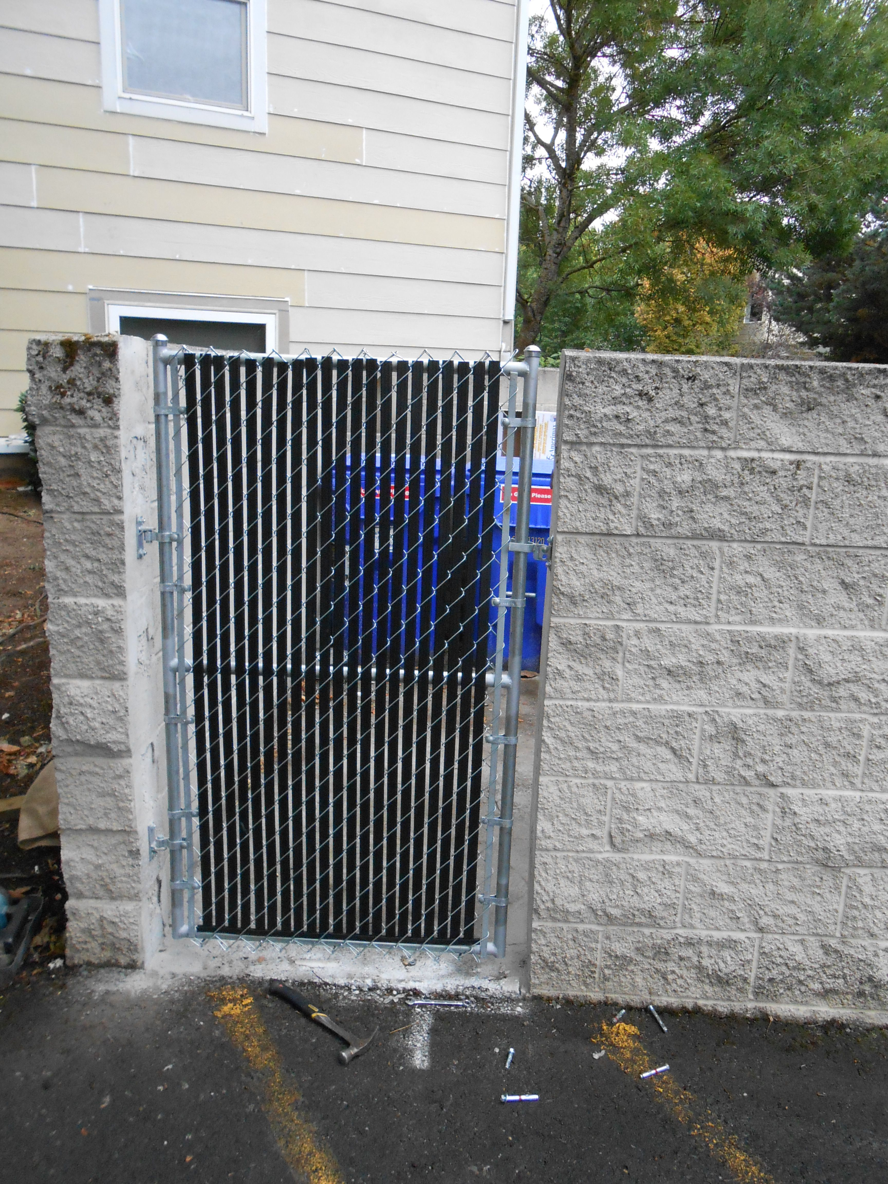 Garbage Enclosure Gate Call Superior Fence For Any Kind Of Garbage Enclosure You Or Your Company May Need Also Give Us Fence Construction Enclosures Garbage