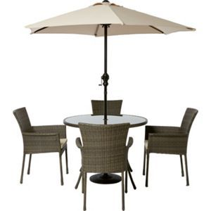 mali 4 seater round rattan effect garden furniture set home delivery - Garden Furniture 4 Seater